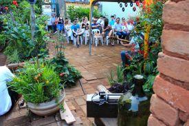 Mantovani Neto Jazz Trio no Jardim do Solar, 29 de janeiro de 2017. Foto da AsPAS