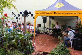 Mantovani Neto Jazz Trio no Jardim do Solar, 29 de janeiro de 2017. Foto da AsPAS.
